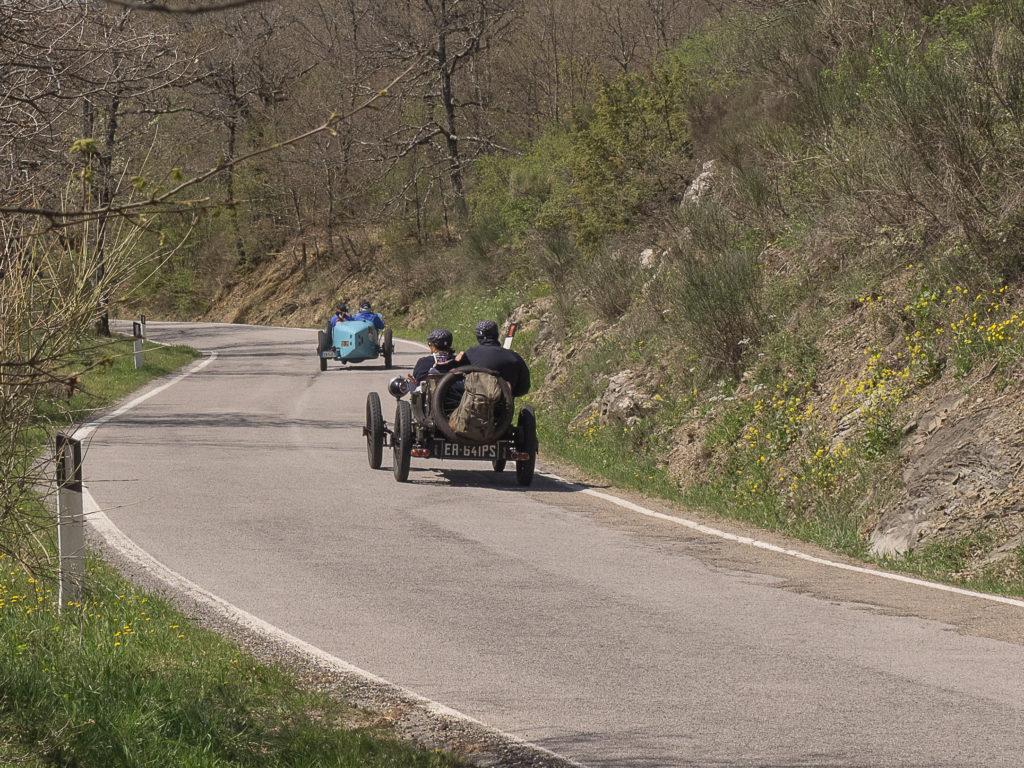 BUGATTI T13 BRESCIA# Chassis BC062 ripresa posteriormante al passo della Crocina