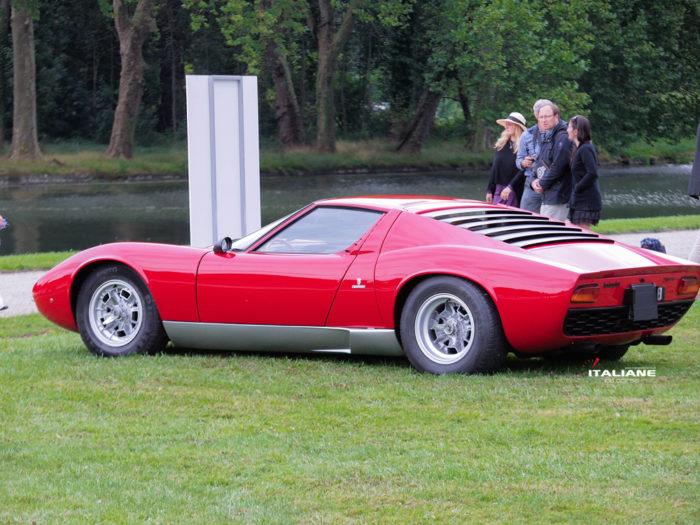 Italianedacorsa-Marcello Gandini-Chantilly-Arts-&-Elegance-2019-Lamborghini-Miura-P400-SV